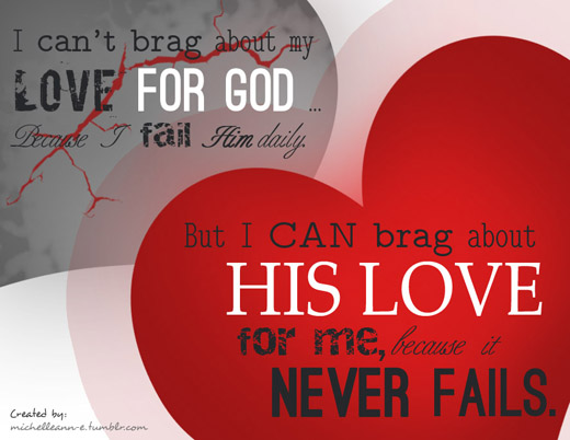 Gods love never fails bible verse
